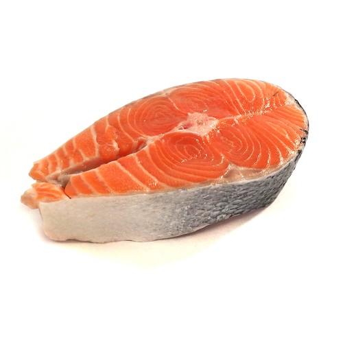 Salmon steak slice premium 1nos 200GM-250GM