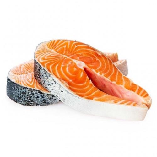 Salmon steak slice premium 1nos 150GM-200GM