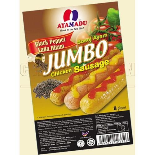 Ayamadu Jumbo Black Pepper Sausage | 8 pcs/pkt