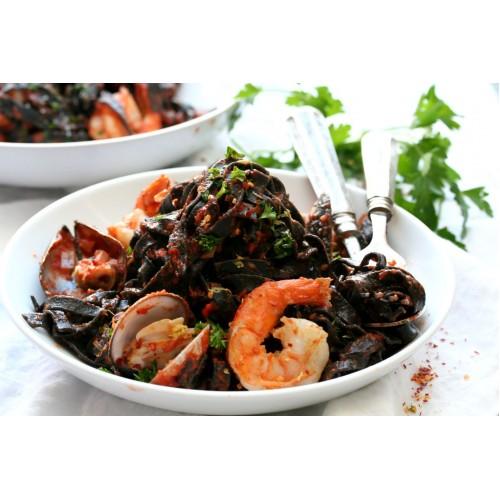 Squid Ink Spaghetti   500 gm/pkt