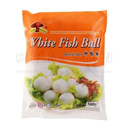 M Medium White Fish Ball 中白丸  25 pcs   500 gm/pkt