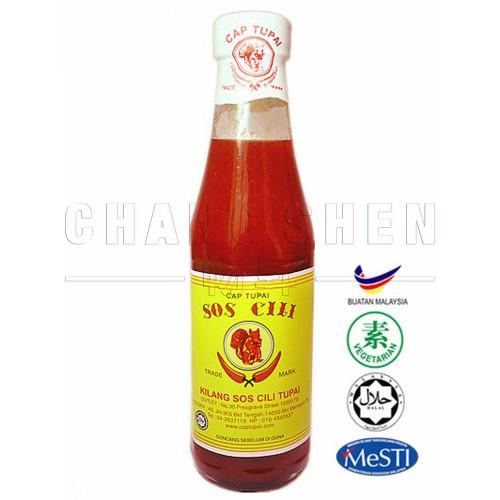 Tupai Chilli Sauce   340 gm/btl