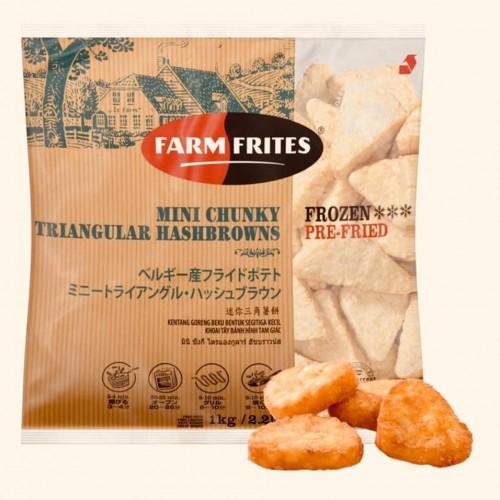 Farm Frites Chunky Triangular Hashbrowns 1KG/PKT